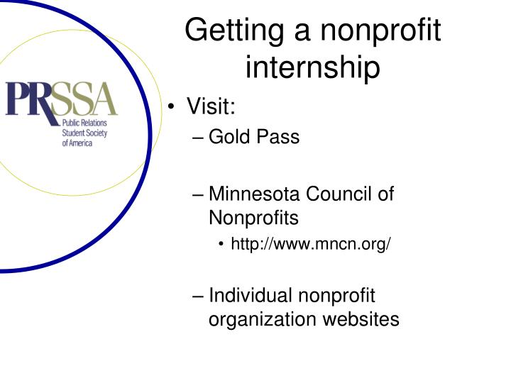 Getting a nonprofit internship
