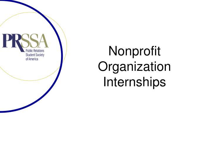 Nonprofit Organization Internships