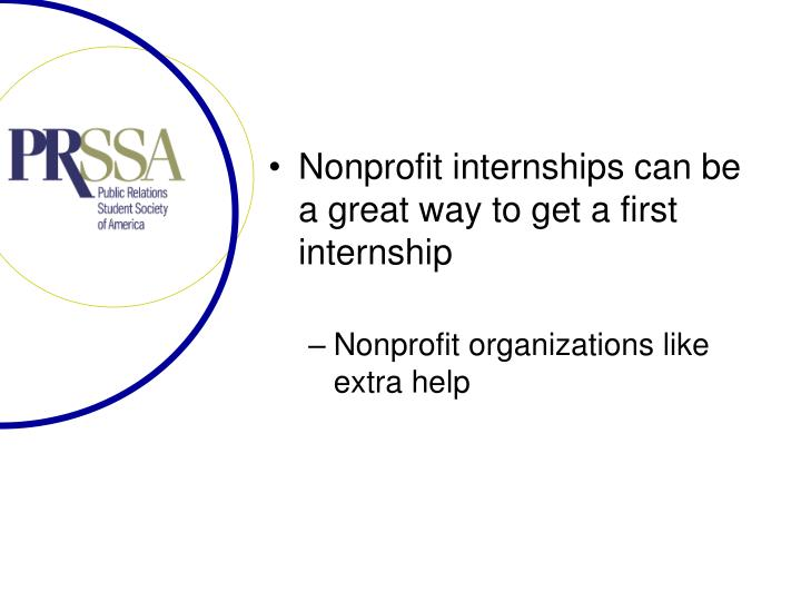 Nonprofit internships can be a great way to get a first internship