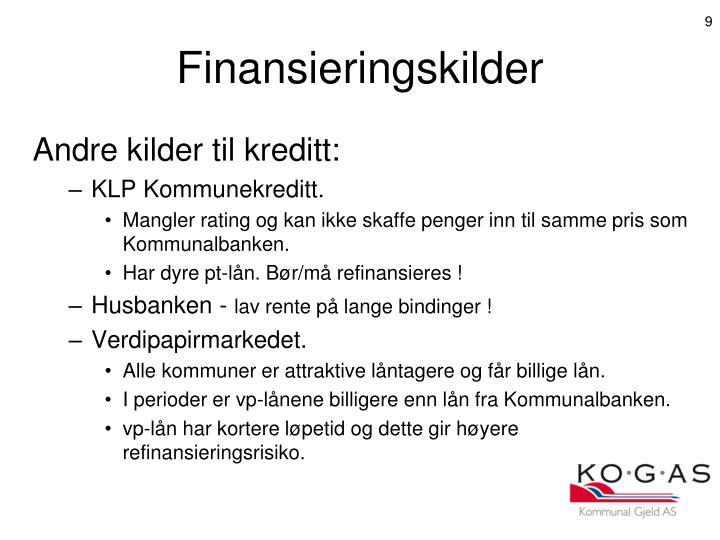 Finansieringskilder