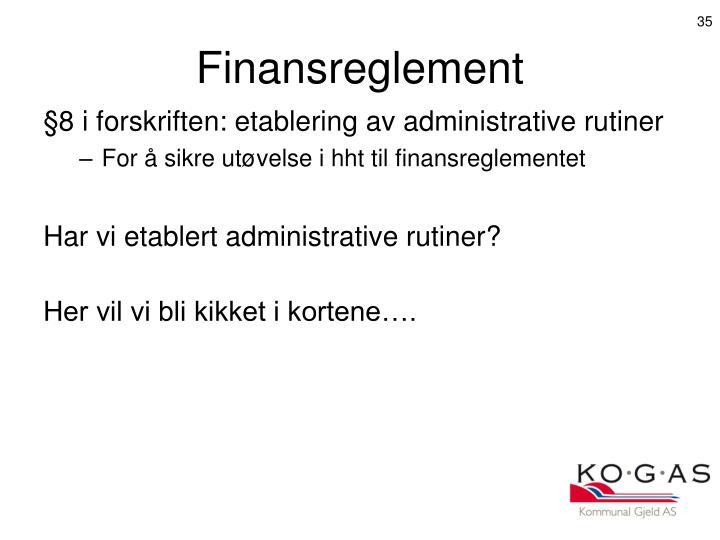 Finansreglement