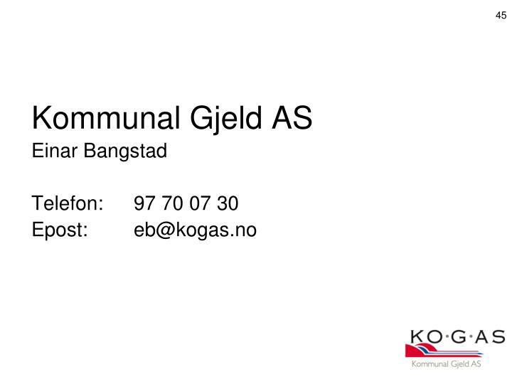 Kommunal Gjeld AS