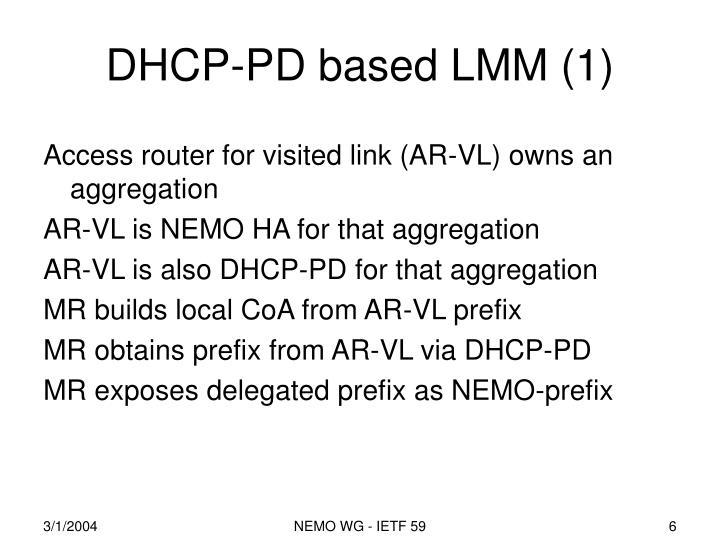 DHCP-PD based LMM (1)