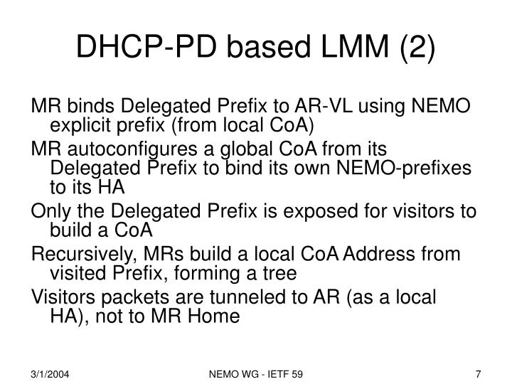 DHCP-PD based LMM (2)