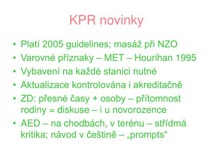 KPR novinky