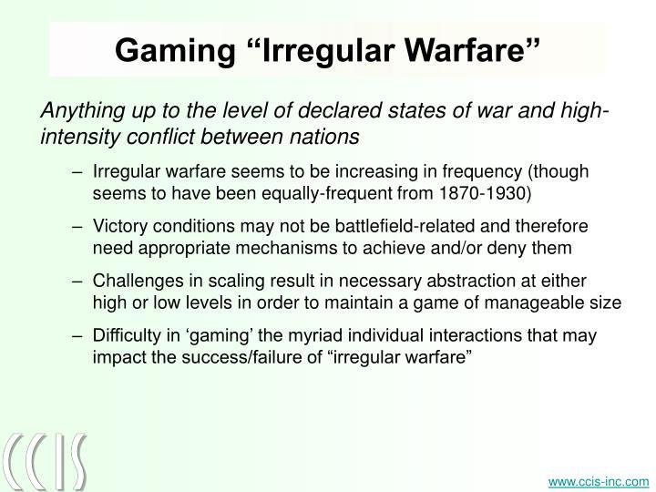 "Gaming ""Irregular Warfare"""