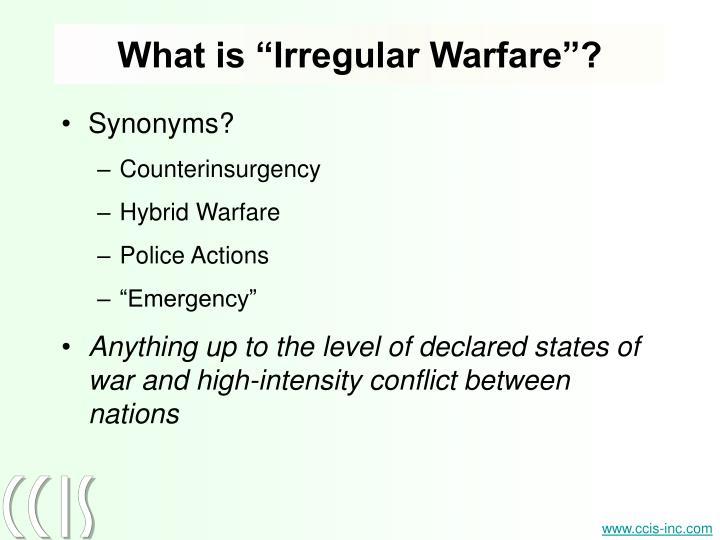 "What is ""Irregular Warfare""?"
