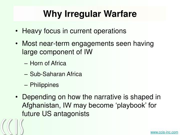 Why Irregular Warfare