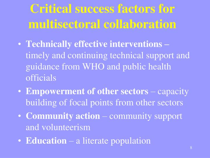 Critical success factors for