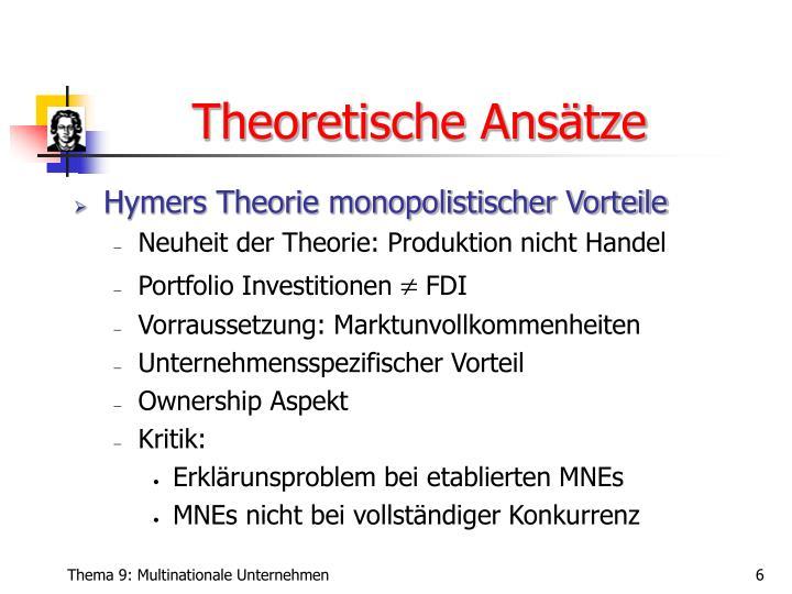 Theoretische Ansätze