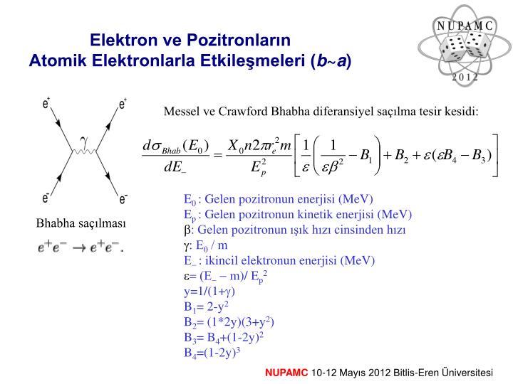 Elektron ve Pozitronların