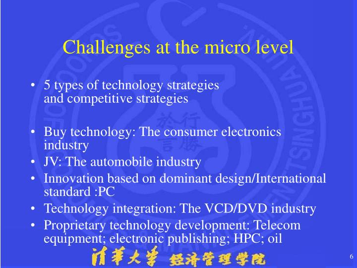 Challenges at the micro level