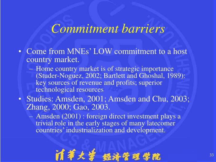 Commitment barriers