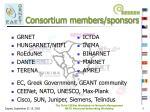 consortium members sponsors