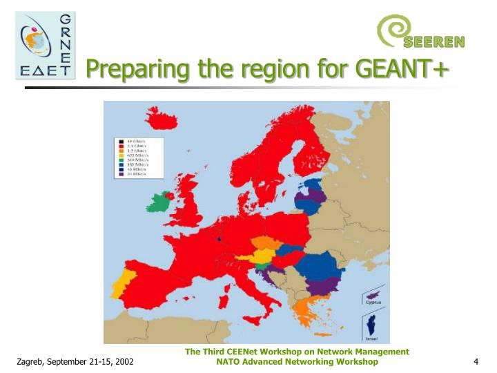 Preparing the region for GEANT+