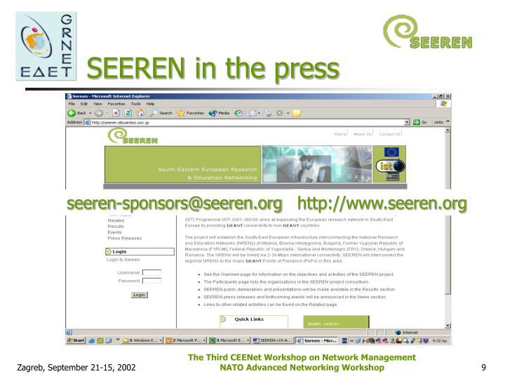 SEEREN in the press