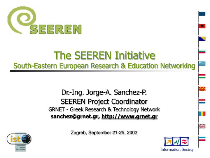 The seeren initiative south eastern european research education networking
