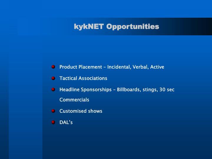 kykNET Opportunities