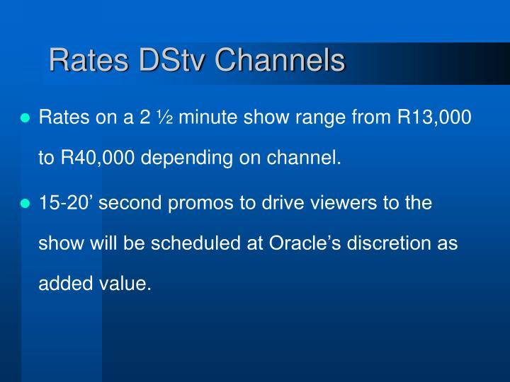 Rates DStv Channels