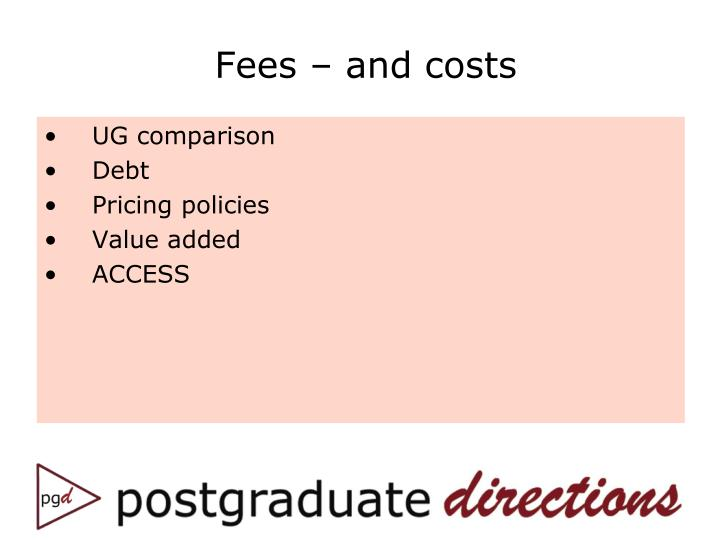 Fees – and costs