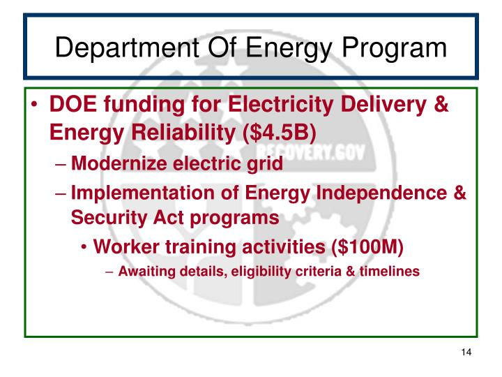 Department Of Energy Program
