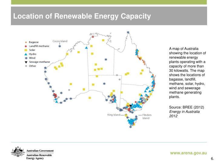Location of Renewable Energy Capacity