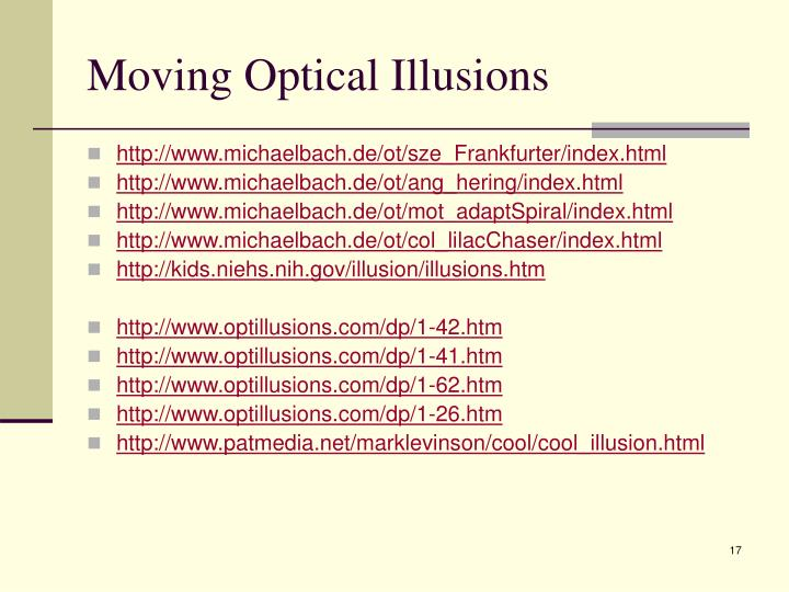 Moving Optical Illusions