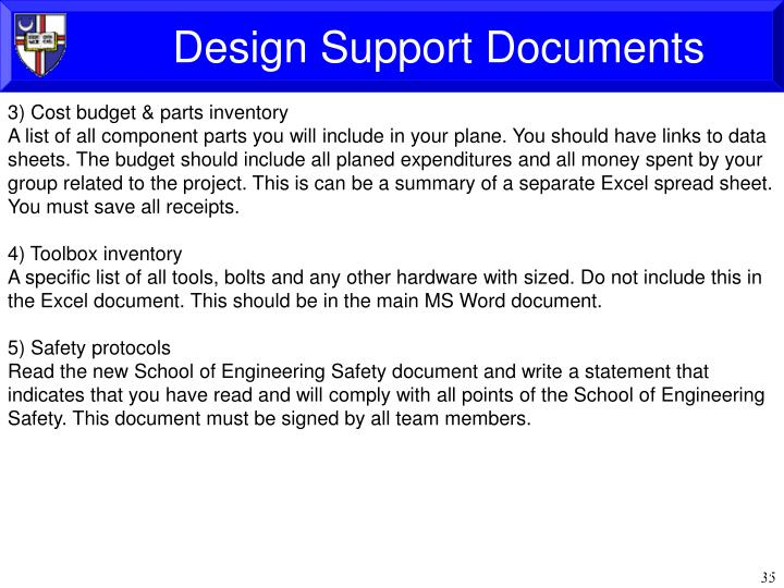 Design Support Documents