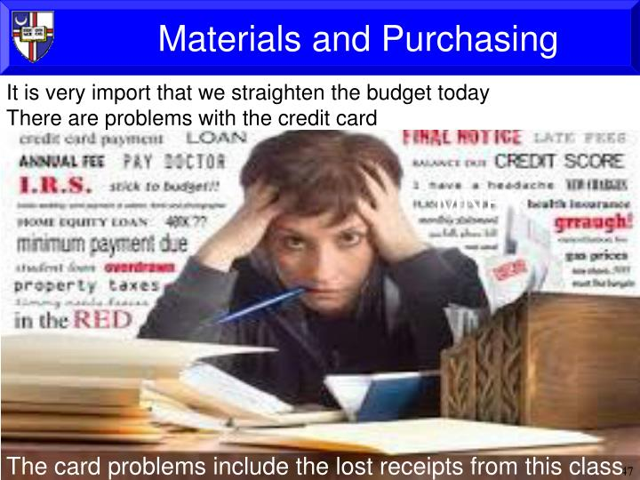 Materials and Purchasing