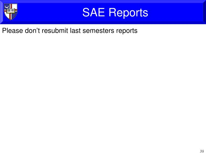 SAE Reports