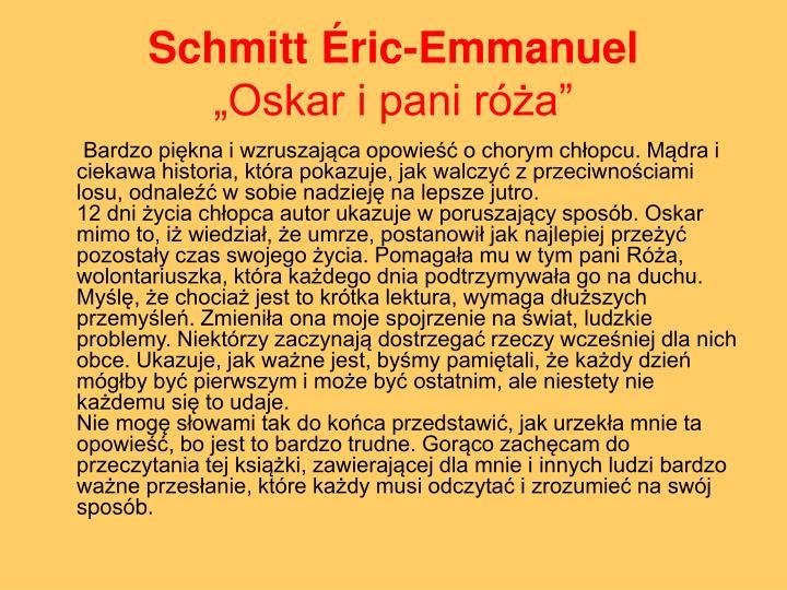Schmitt Éric-Emmanuel