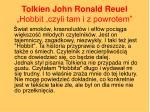 tolkien john ronald reuel hobbit czyli tam i z powrotem