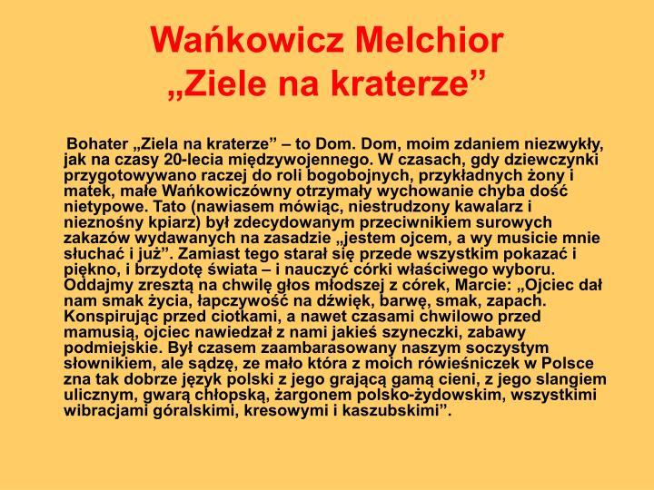 Wańkowicz Melchior