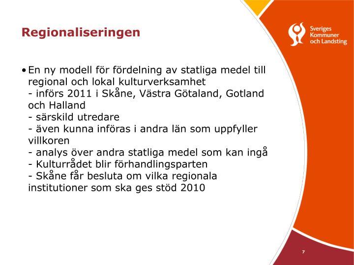 Regionaliseringen