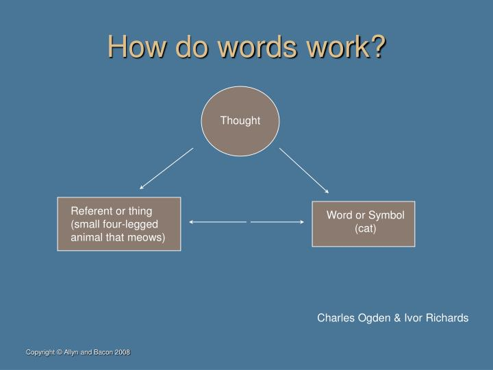 How do words work?
