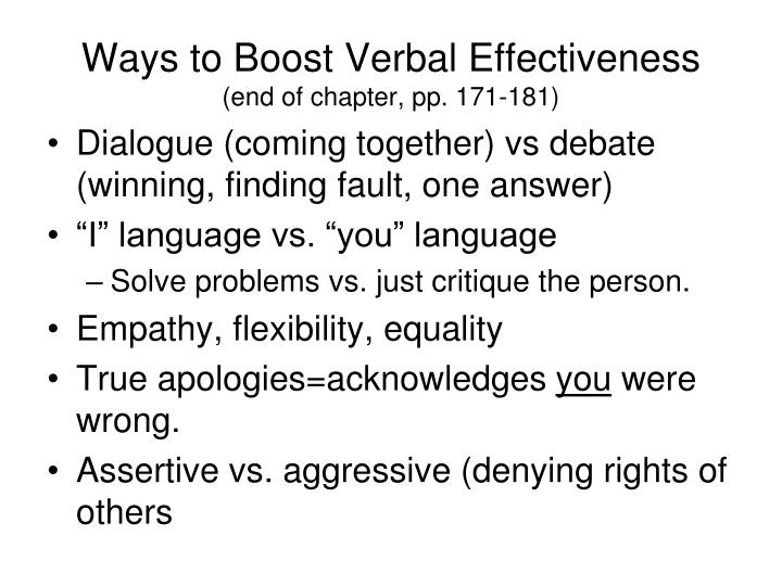 Ways to Boost Verbal Effectiveness