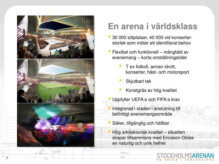En arena i världsklass