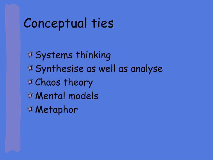 Conceptual ties