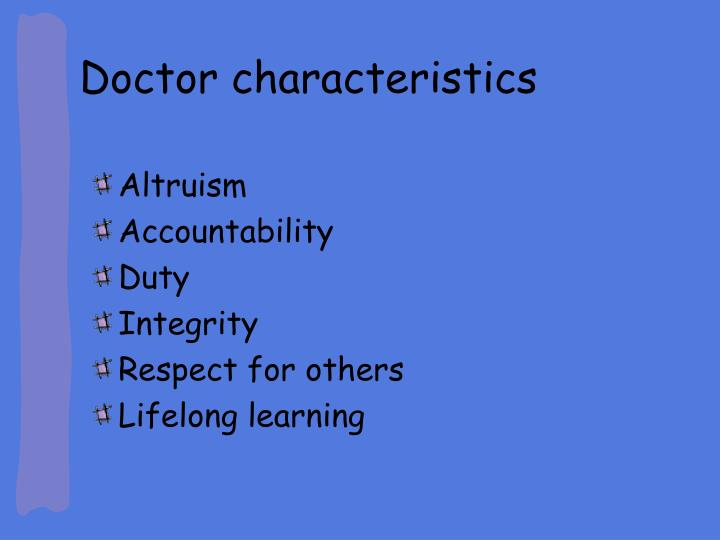 Doctor characteristics