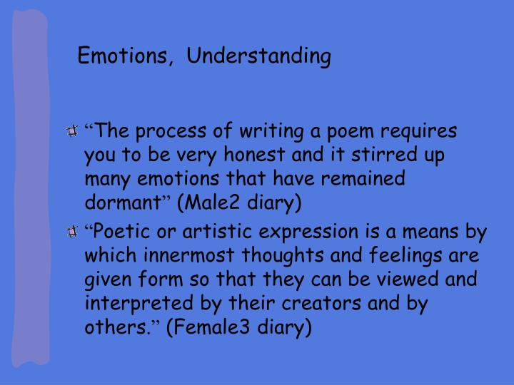 Emotions,  Understanding
