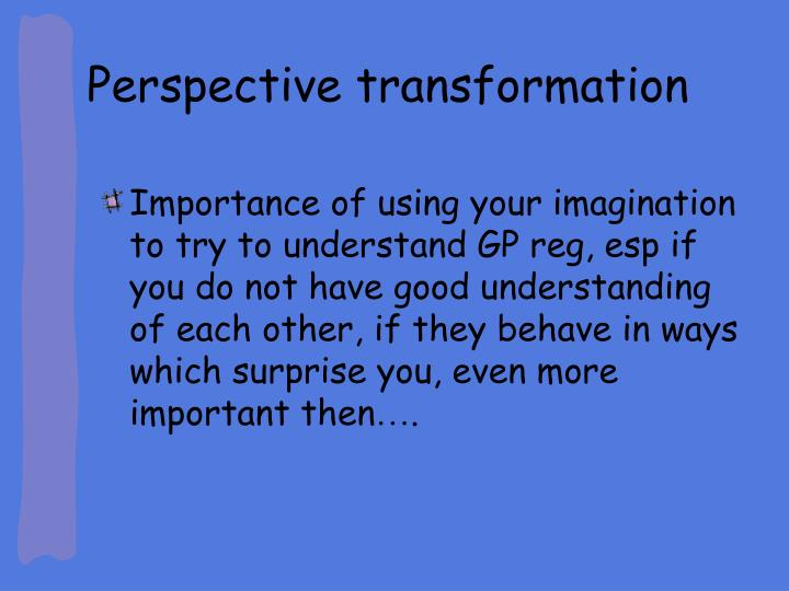 Perspective transformation