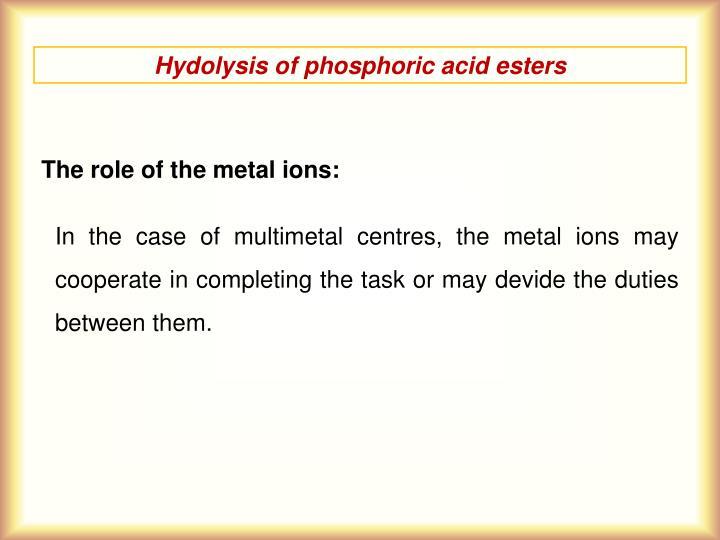 Hydolysis