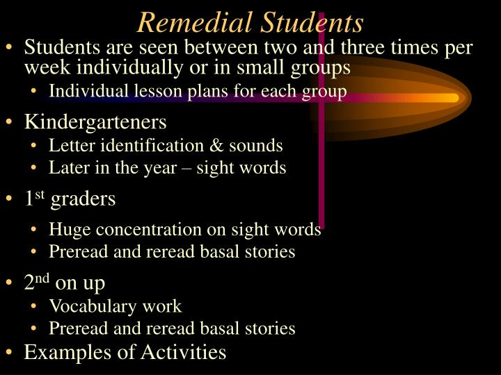 Remedial Students