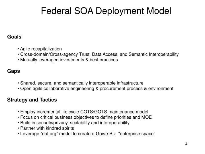 Federal SOA Deployment Model