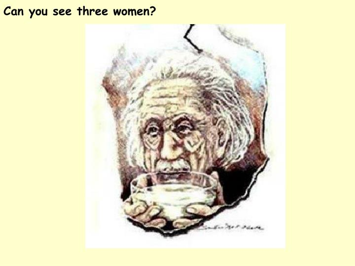 Can you see three women?