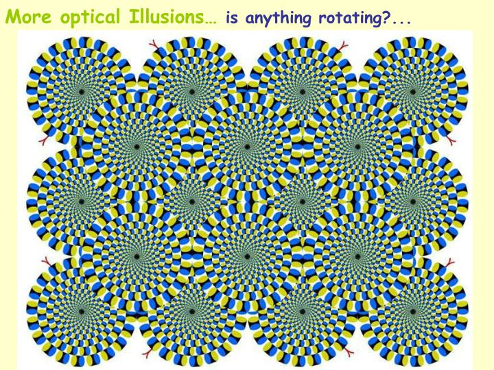 More optical Illusions…