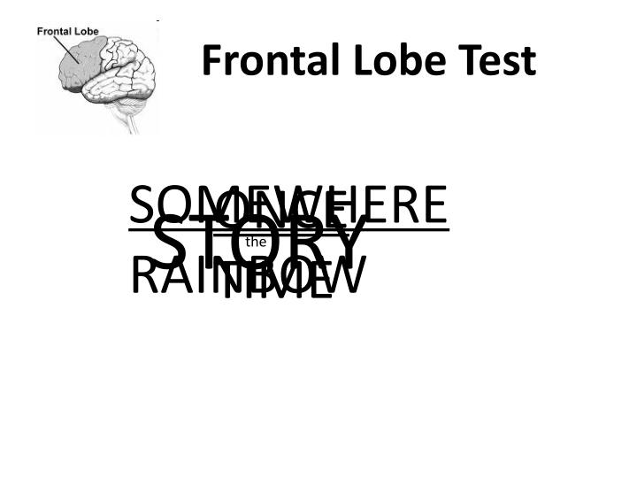 Frontal Lobe Test