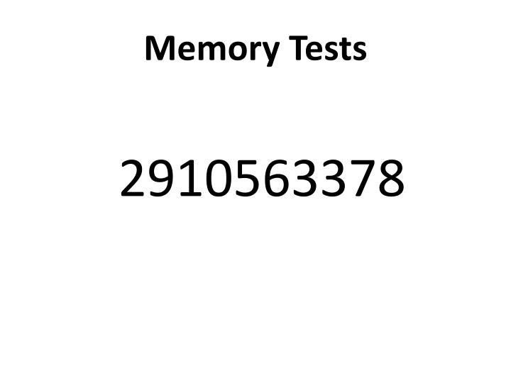Memory Tests