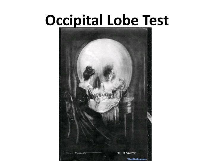 Occipital Lobe Test