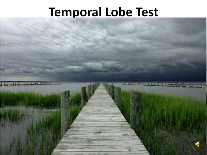 Temporal Lobe Test